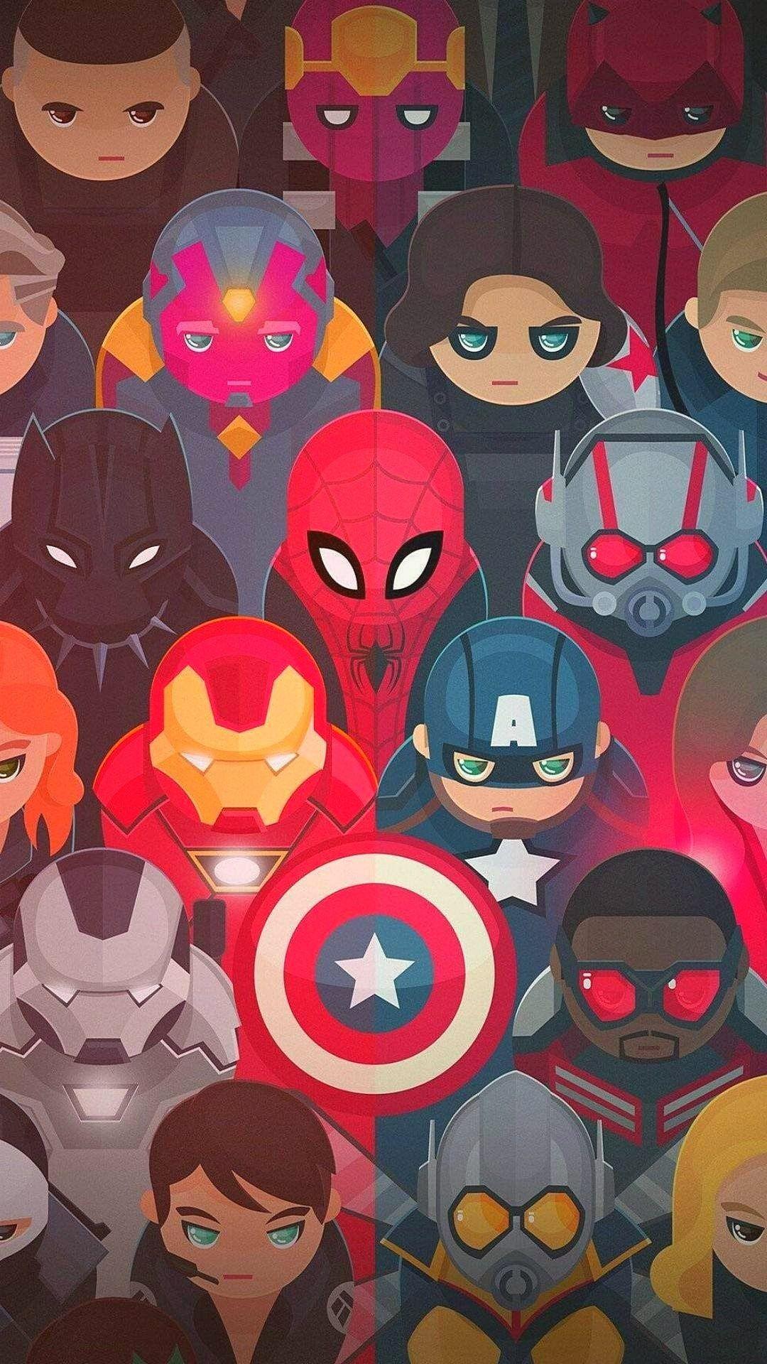 Avengers Superheros Minimal Wallpaper 1080x1920 Avengers Wallpaper Superhero Wallpaper Marvel Wallpaper