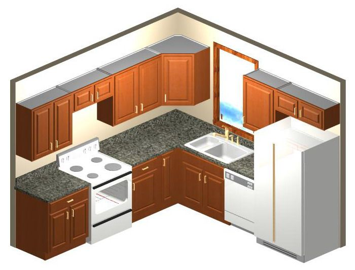 10 x 10 kitchen cabinet layout from 10 by 10 kitchen for Kitchen design 9 x 11
