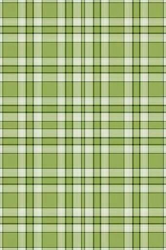 Plaid in an usual shade of green. I think a bright pink ribbon would ...