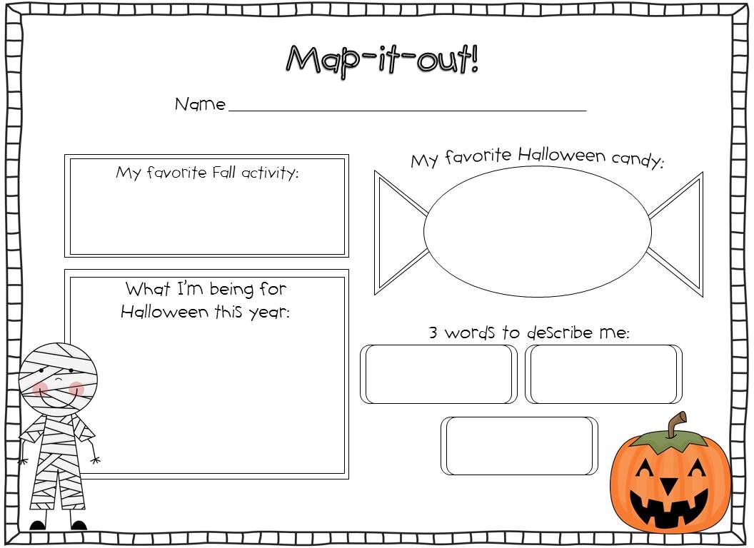 TGIF! - Thank God It's First Grade!: One Haunted Halloween \u0026 Pumpkin Patch  Kids!   Halloween writing [ 768 x 1056 Pixel ]