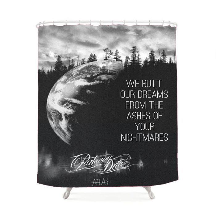 Parkway Drive Atlas Shower Curtain
