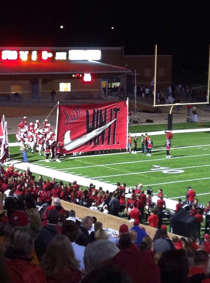 katy high school football run through sign  u2026