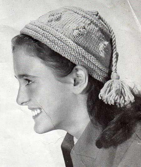 Free KNitting Pattern, Mandaring hat for older girls