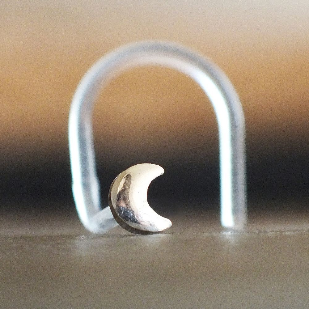 Nose accessories without piercing  Crescent Moon Nose Stud  Piercings  Pinterest  Crescents Moon