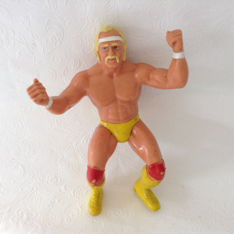Hulk Hogan - Hulkmania - Vintage Action figure - Titan Sports - WWE - Monday night raw by TheWhatNaught on Etsy