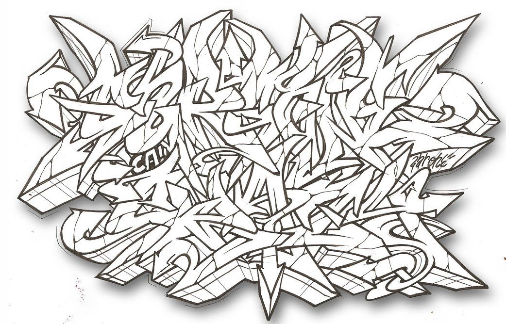 Graffiti alphabet, Graffiti alphabet