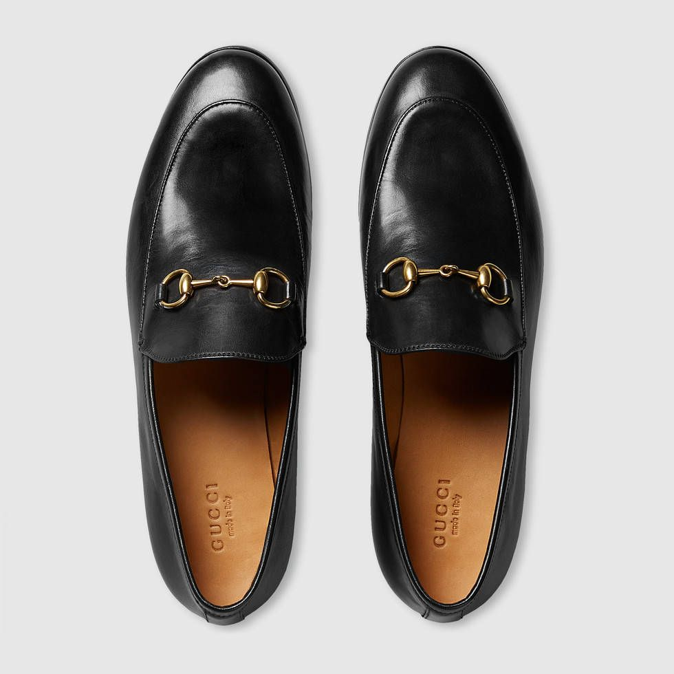 gucci women gucci jordaan leather loafer 404069blm001000 summer style pinterest. Black Bedroom Furniture Sets. Home Design Ideas