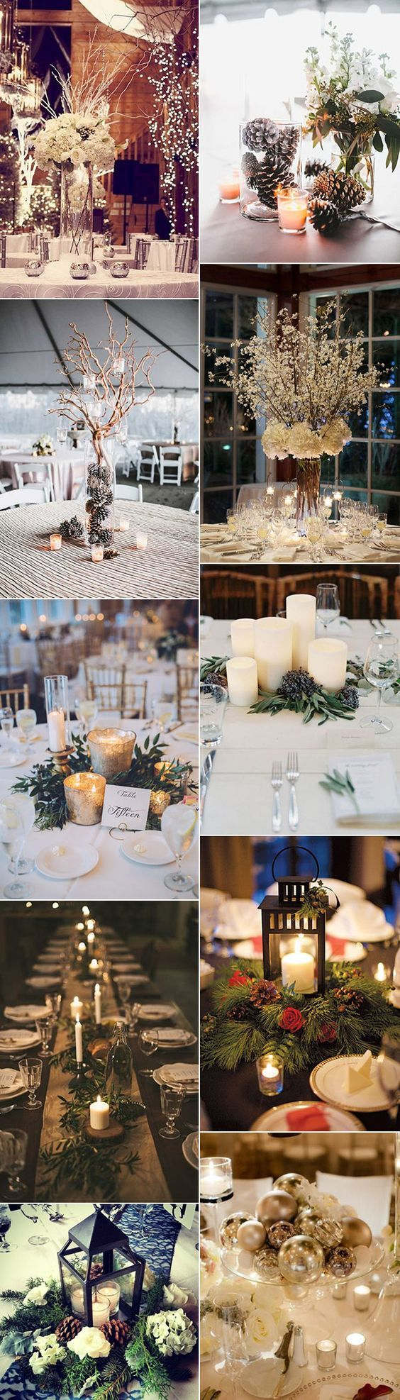 centerpieces for wedding receptions with candles%0A    Brilliant Winter Wedding Ideas You u    ll Love  Reception DecorationsRound