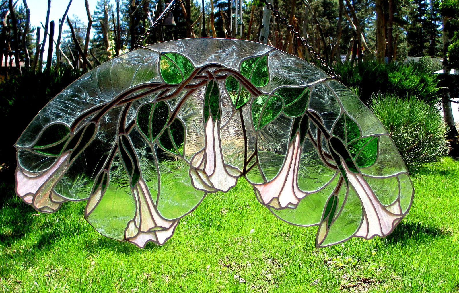 Flowers Stained Glass Trumpet Flowers | eBay