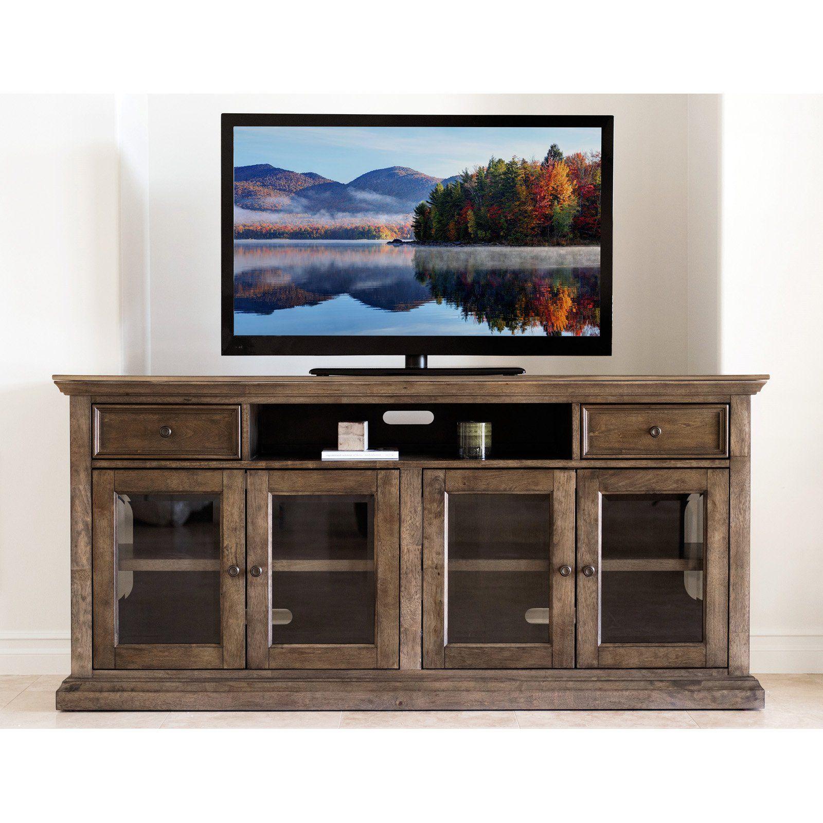 Abbyson Living Fontana Oak 75 in Multi Use TV Console RK 4331 324
