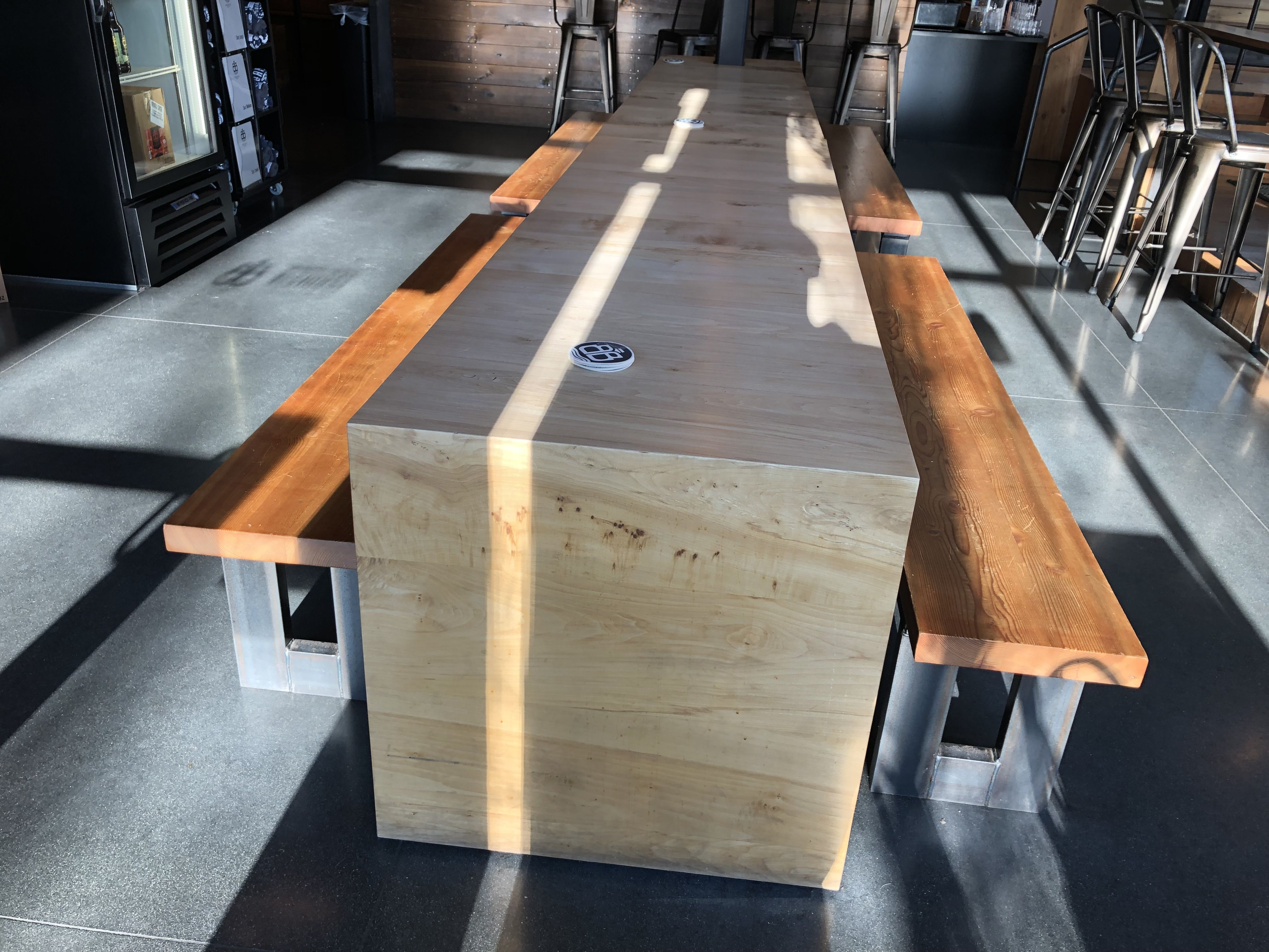 24 To 26 Inch Wide Table With Benches Right Where They Would Need To Be It S Only 5 Feet Wide Bar Design Home Decor Table 24 inch wide table