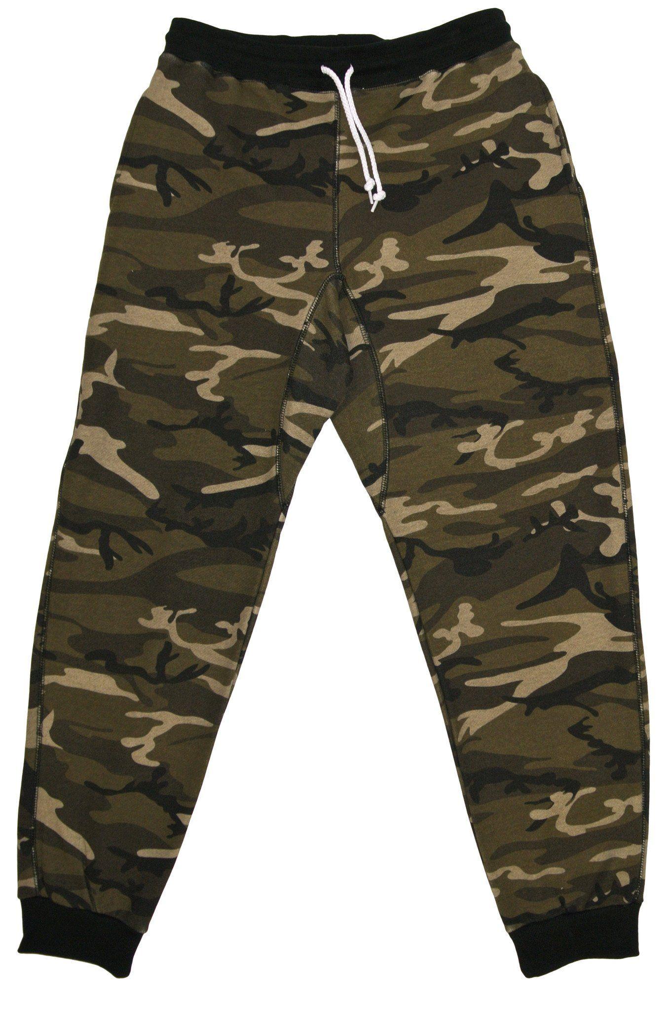 effd2342807c3 French Terry Fleece Pants Sweatpants Joggers Camo Camoflauge Military