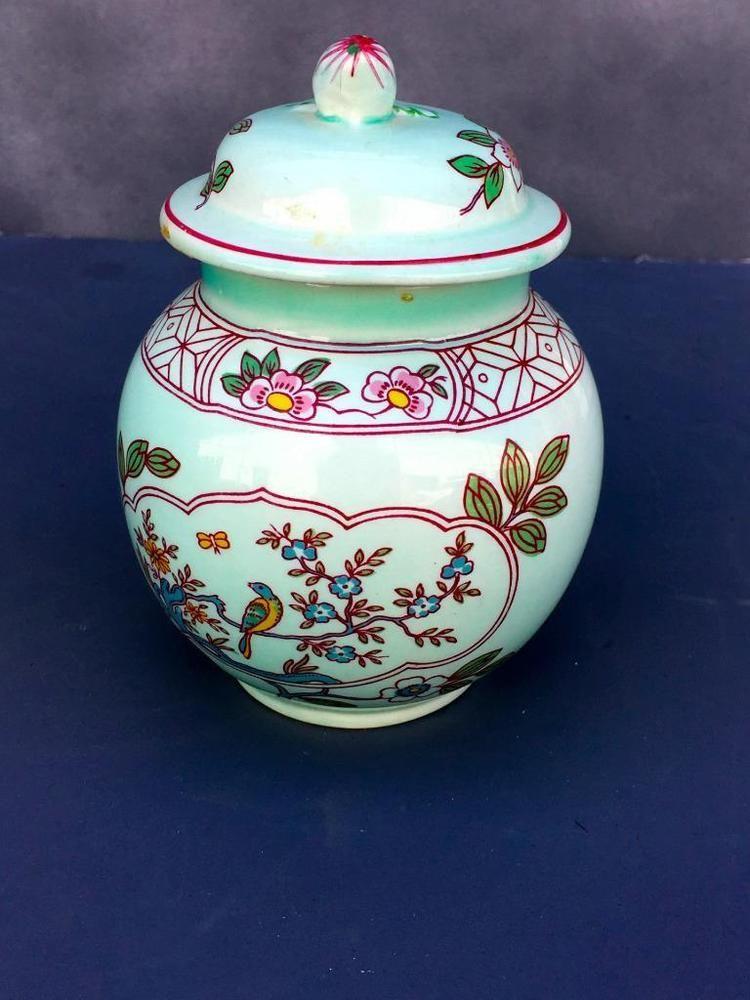 Adams Calyx Ware Singapore Bird Sugar Bowl Lid Made England Good Cond Collect Adamscalyxware Madeinengland Bowl Dinnerware Ebay
