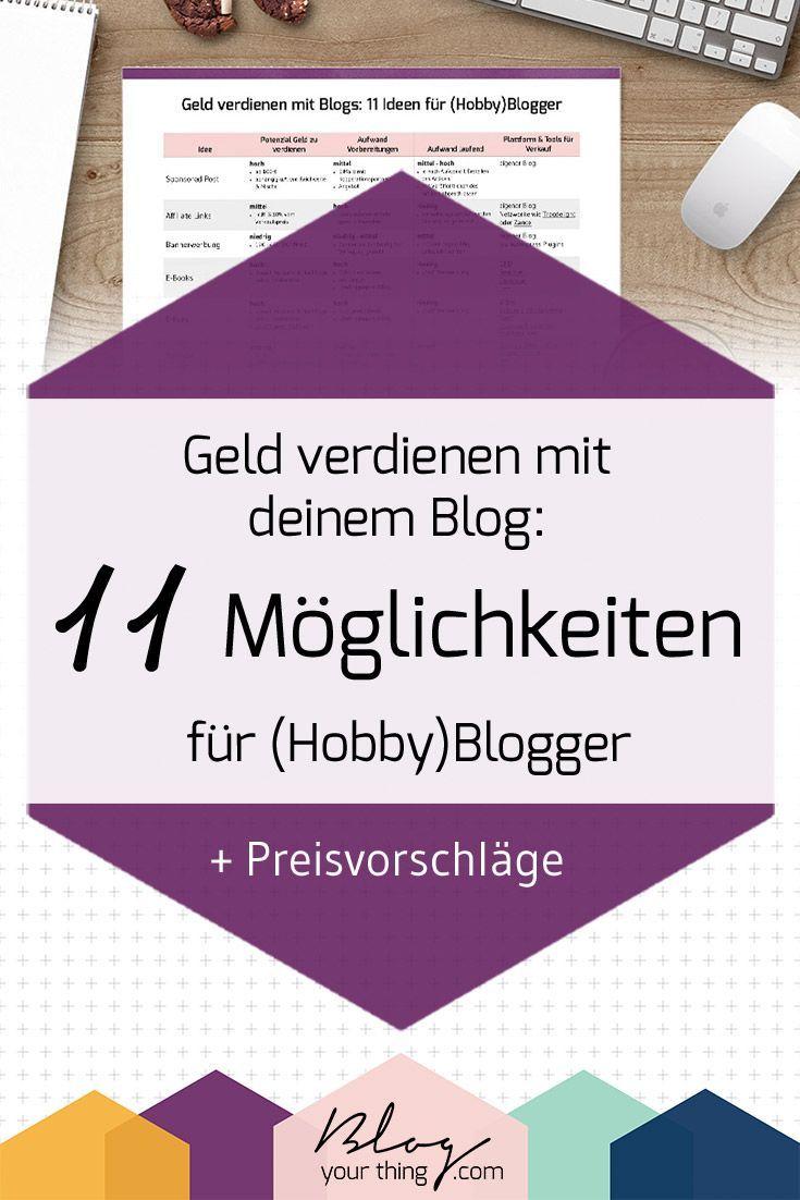 geld verdienen mit blogs 11 ideen f r hobby blogger preisvorschl ge blogging tipps geld. Black Bedroom Furniture Sets. Home Design Ideas