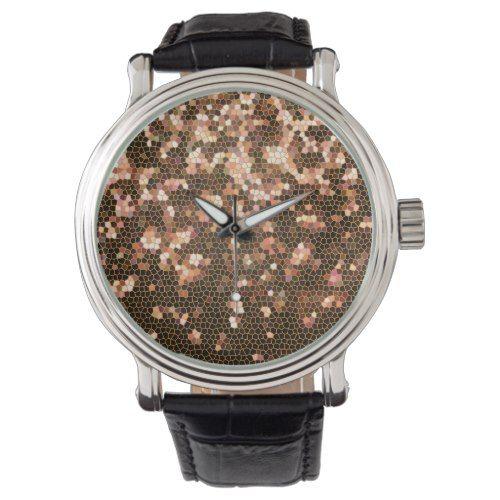Modern Stylish and Trendy Black and Yellow Pattern Wrist Watch