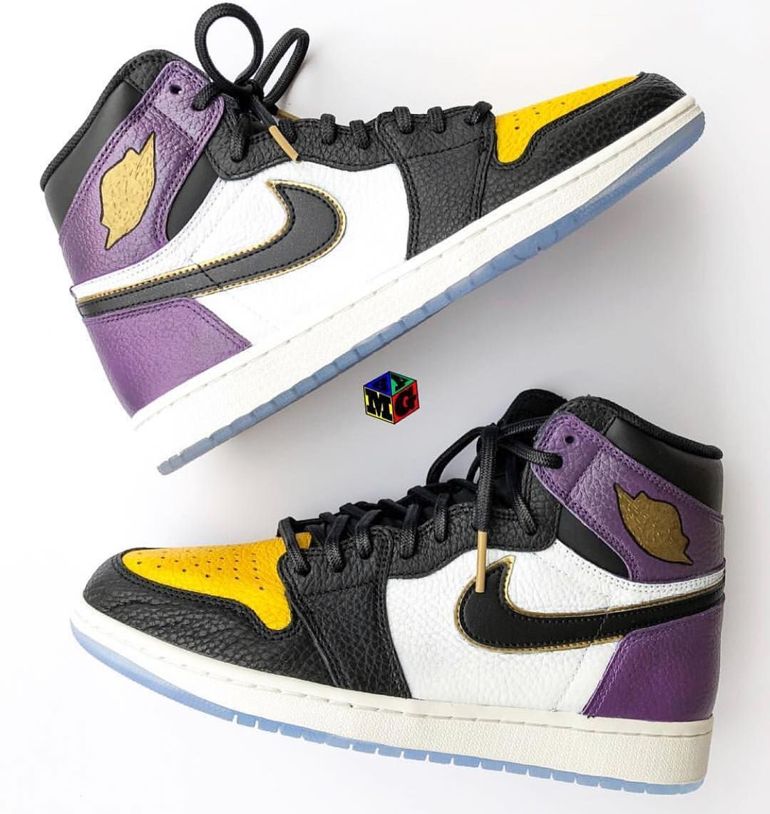 d73ededd1ee Lakers special custom Air Jordan 1
