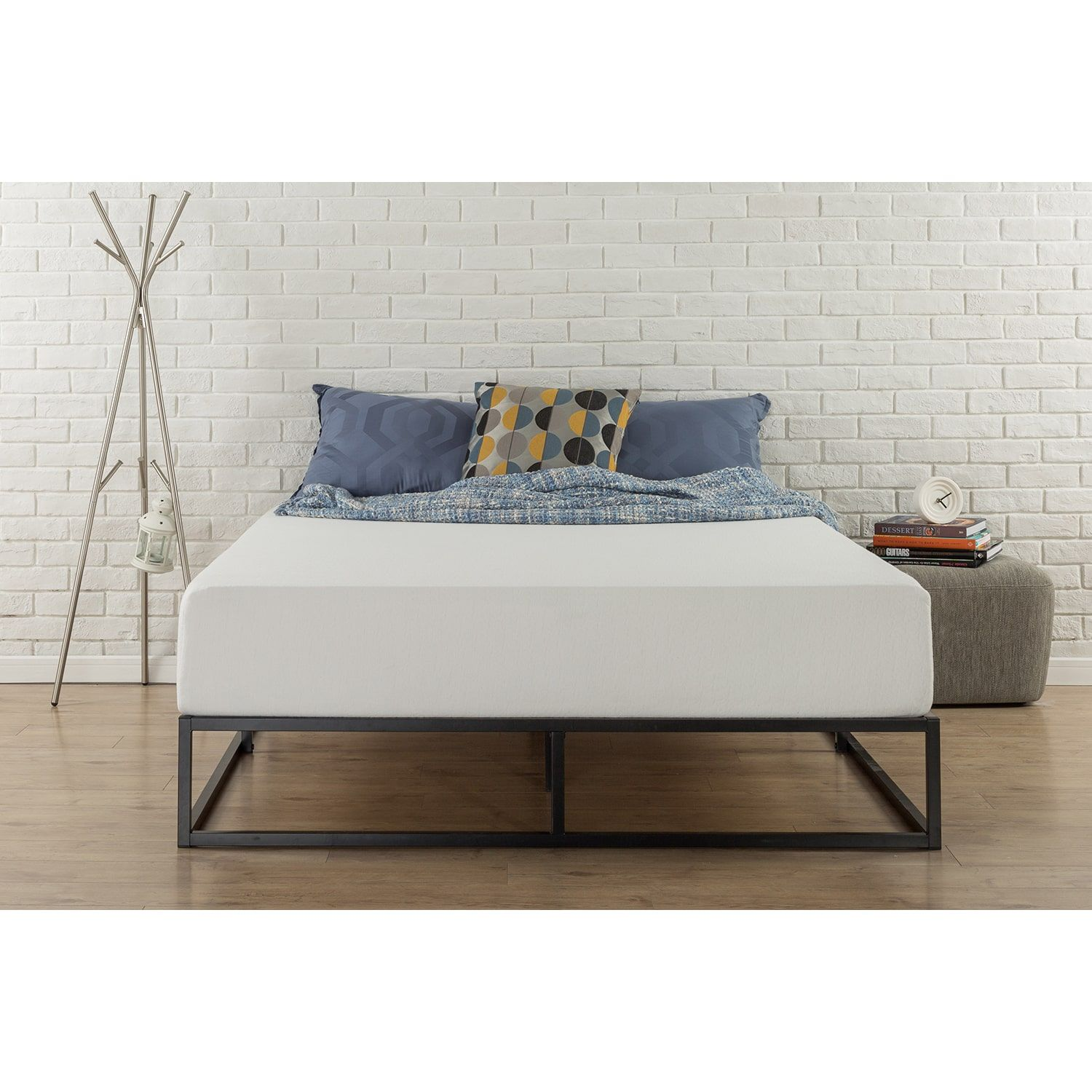 Priage 10-inch Steel Box Bed Frame (King) - Walmart.com | home decor ...