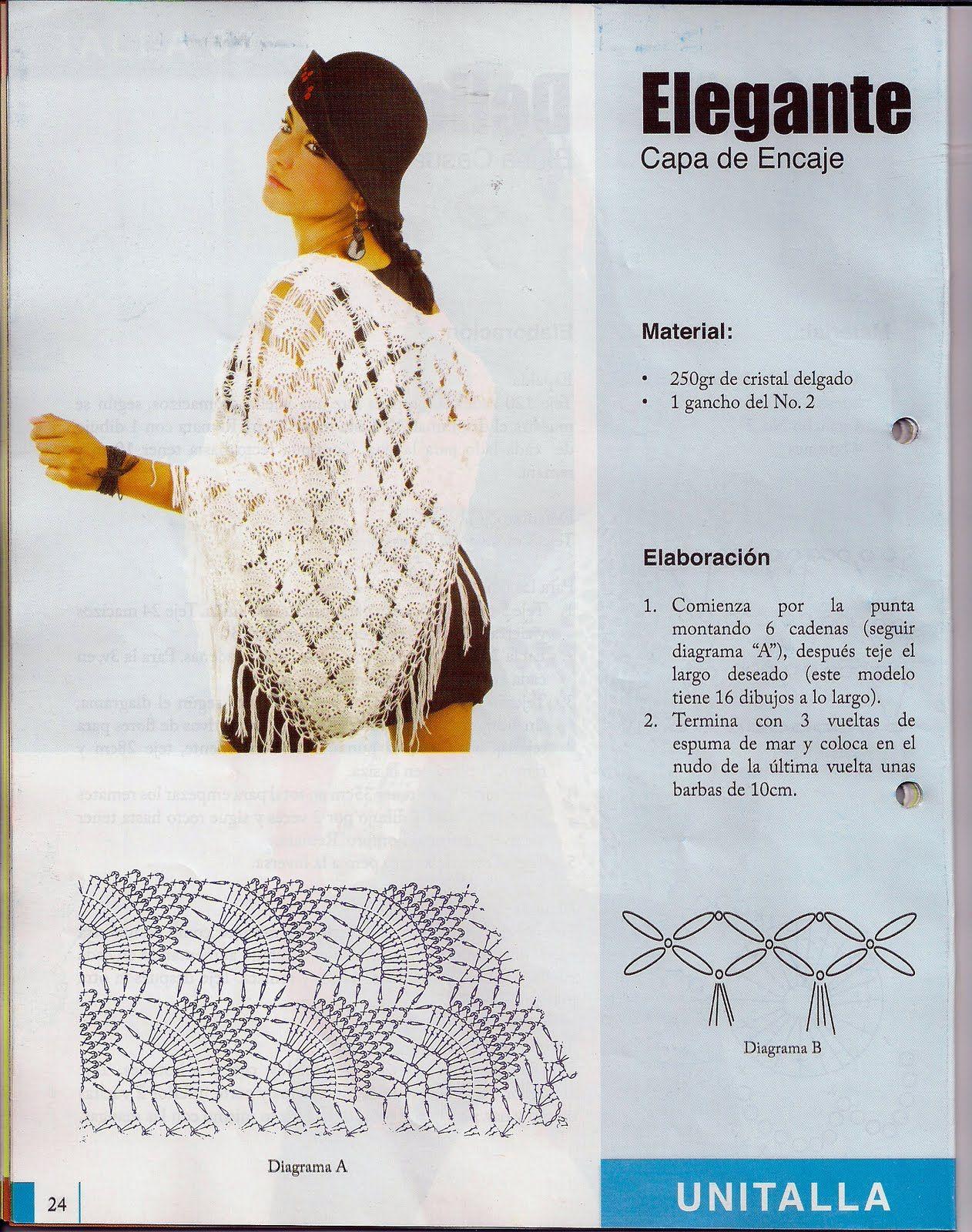 fanatica del tejido: crochet 40 | Crochet | Pinterest | Tejido, Chal ...