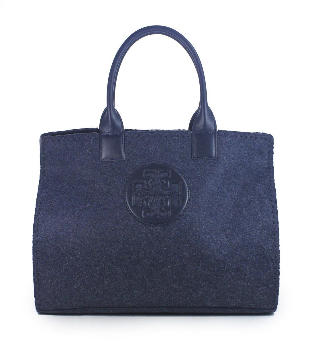 ed72654a96d Tory Burch Ella Stitched Tote in Tory Navy