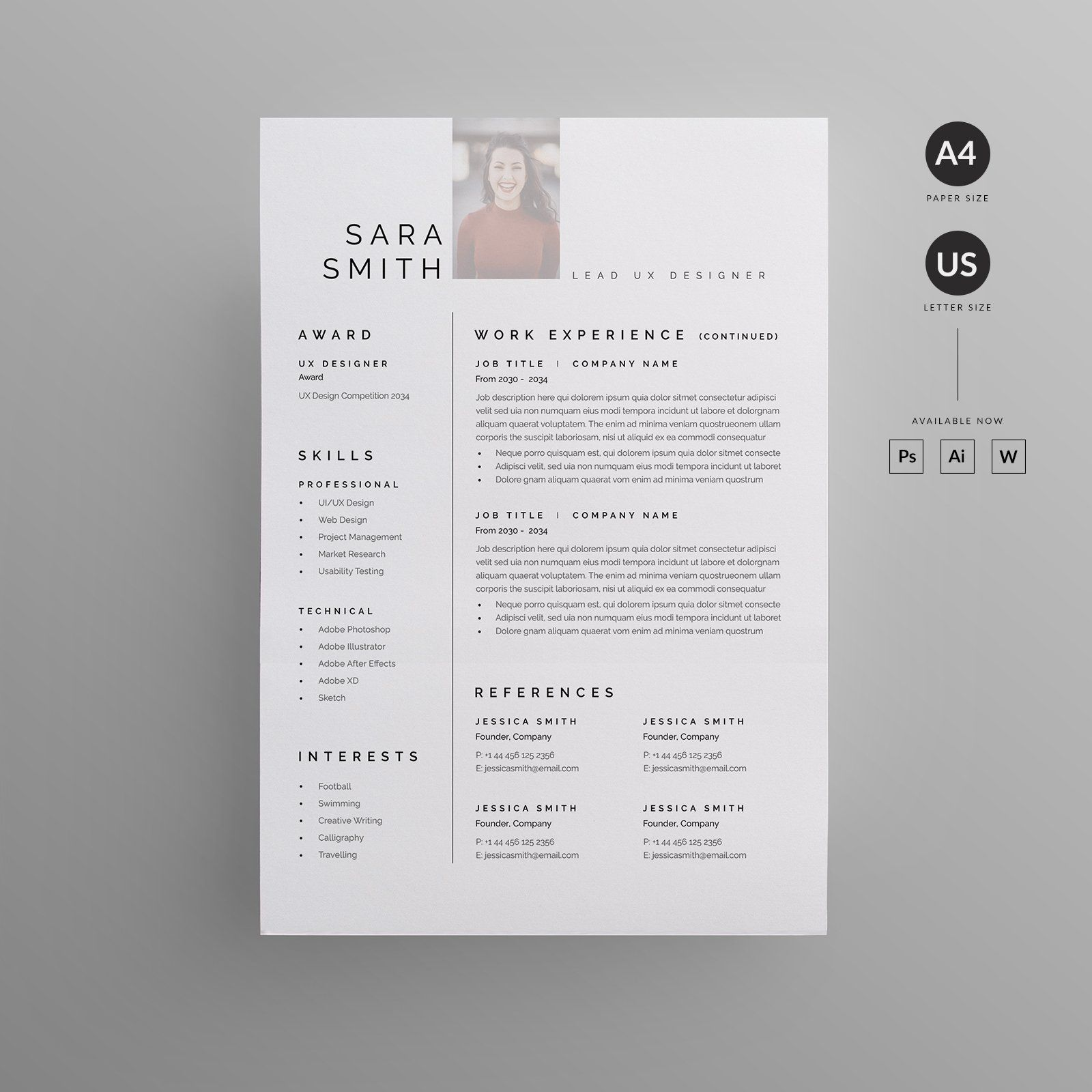 Resume/CV in 2020 Resume templates, Creative resume