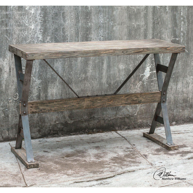 Pulaski furniture right2home multi tone console table sofa pulaski furniture right2home multi tone console table geotapseo Images