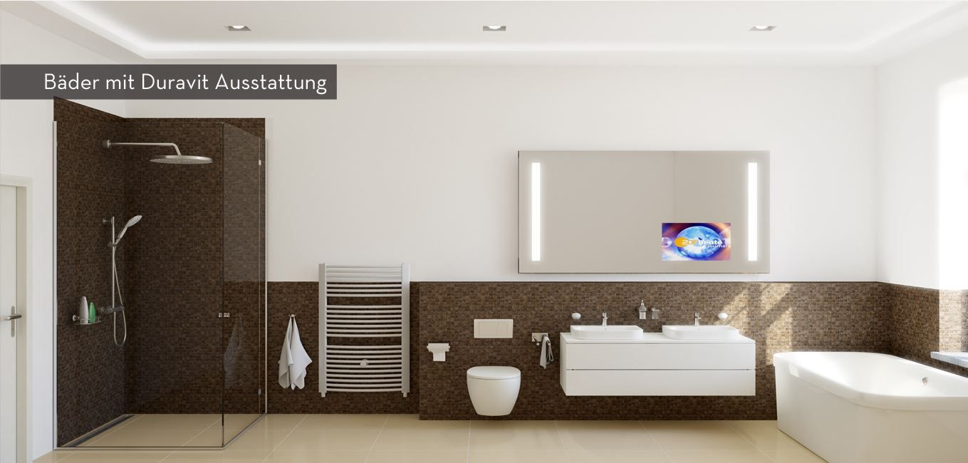 Innovatives Badezimmer Mit Fernseher Im Spiegel Innovative Bathroom With An Included Tv In The Mirrow Antike Gebaude Badezimmer Design