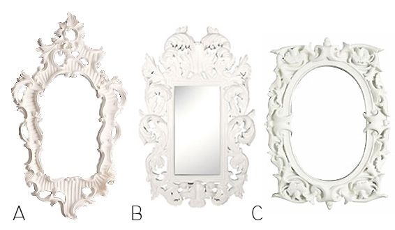 High to Low: White Painted Mirrors | Dining room wall art, White ...