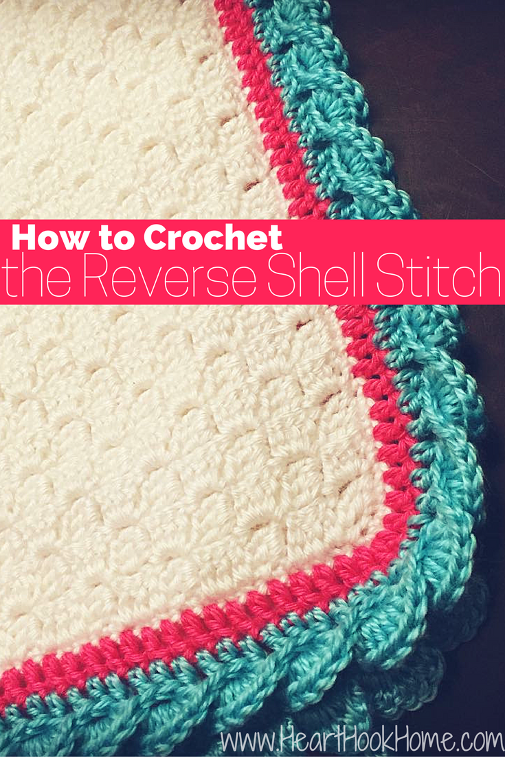 How to Crochet the Reverse Shell Stitch (With Photos) | Häkeldecke ...
