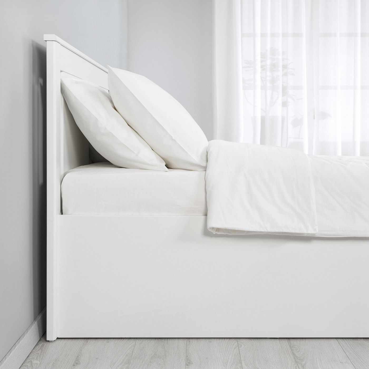 Letto Matrimoniale Con Contenitore Ikea.Songesand Struttura Letto Con Contenitore Bianco Letto
