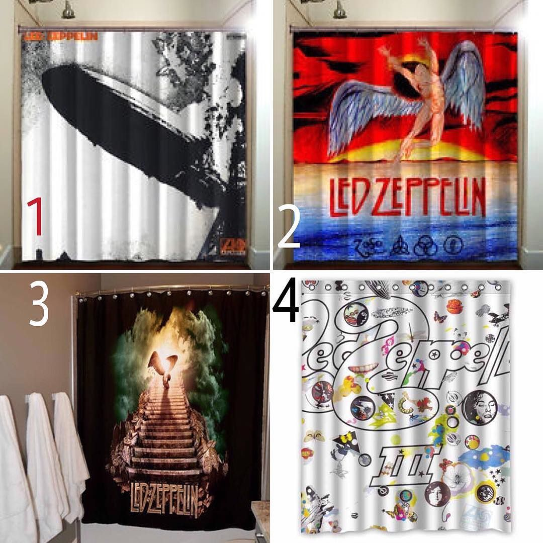 Shower Curtain Which One Would You Pick 1234 Me Ledzeppelin Ledzep