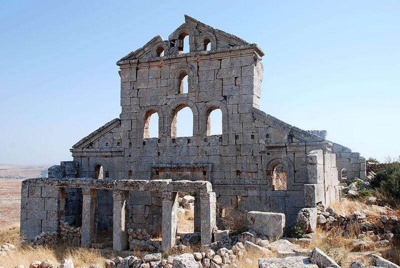 Baqirha, East church. Dead Cities, Syria. Was build around ...