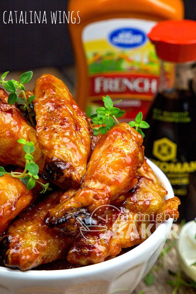 Chicken Wings Coated With A Tangy And Sweet Sauce Made With