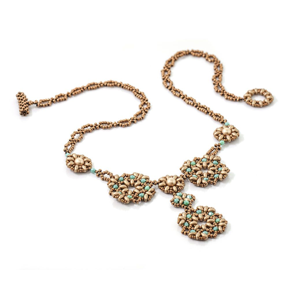 Chantilly Necklace Kit by Jill Wiseman Designs Gold Beading