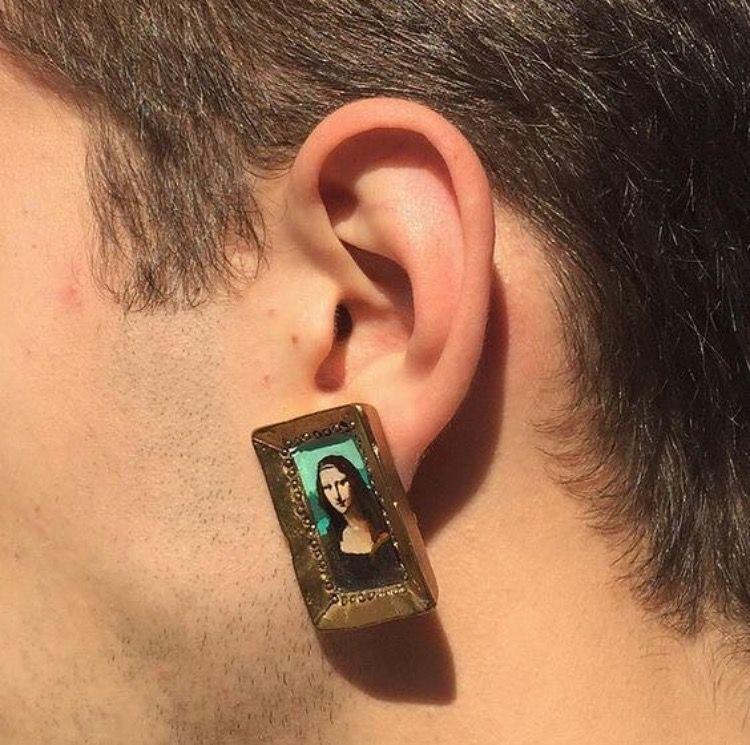 Mona Lisa earrings // Patrizia Conde Cute jewelry