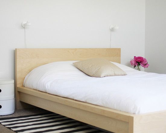 Light Wood Bedframe Google Search Minimalist Bedroom Design