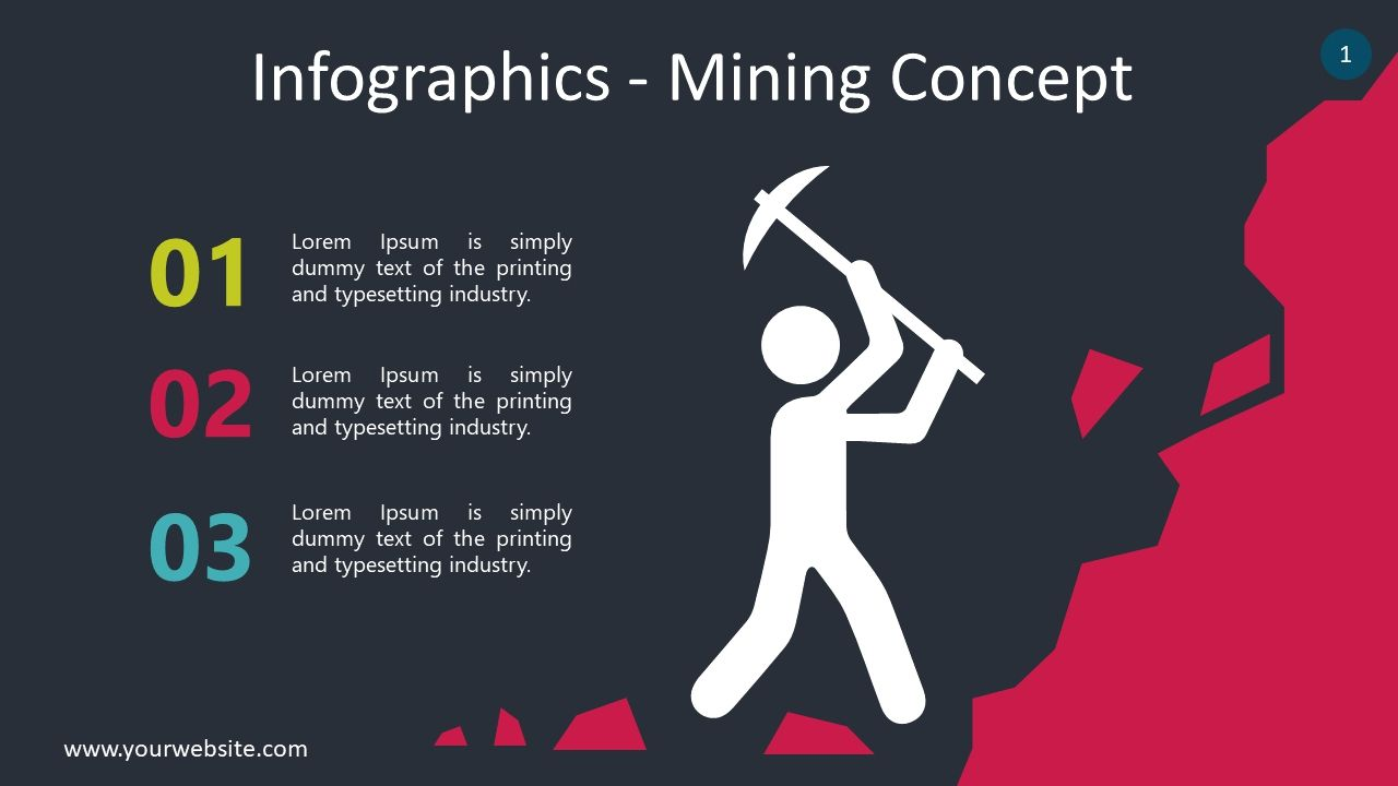 Free Mining Infographic Slides Powerpoint Template Powerpoint Templates Powerpoint Templates