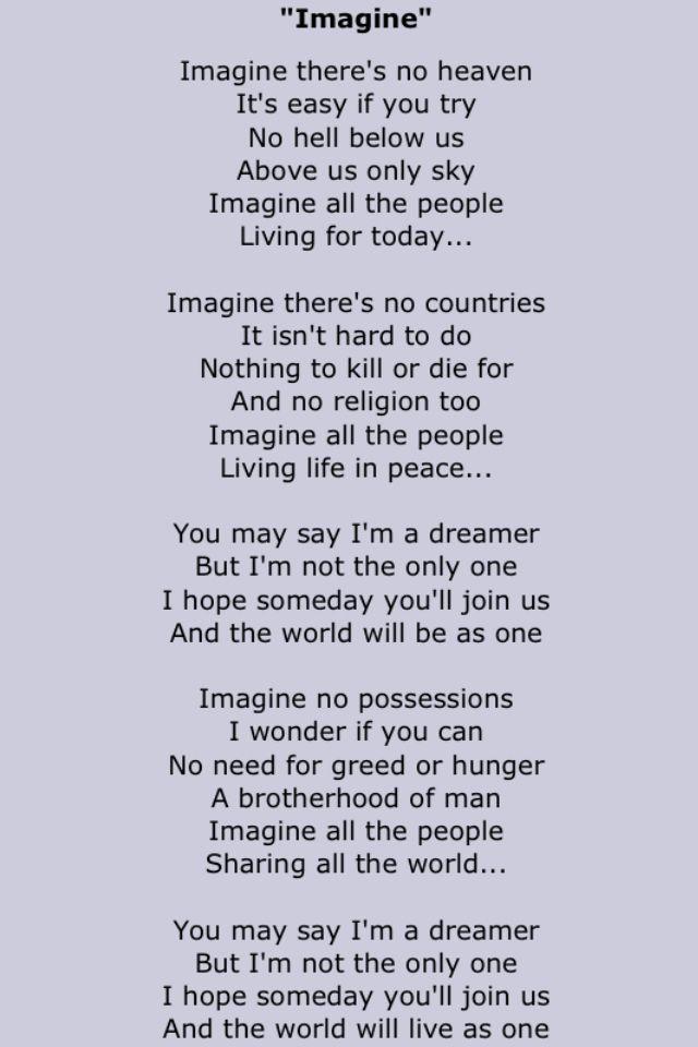 Lyrics To John Lennon S Imagine : john lennon song lyrics two in 2019 imagine lyrics lyrics song lyrics ~ Hamham.info Haus und Dekorationen