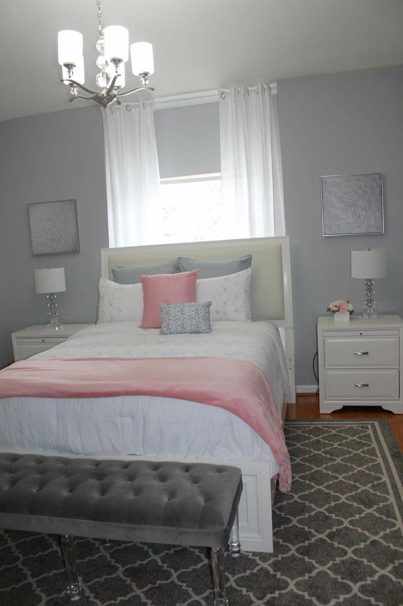 Pink And Gray Bedroom Teengirlbedroomideas White Girls Bedroom