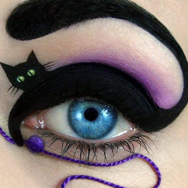 Halloween Cat Eye Makeup Halloween Eye Makeup Crazy Eye Makeup