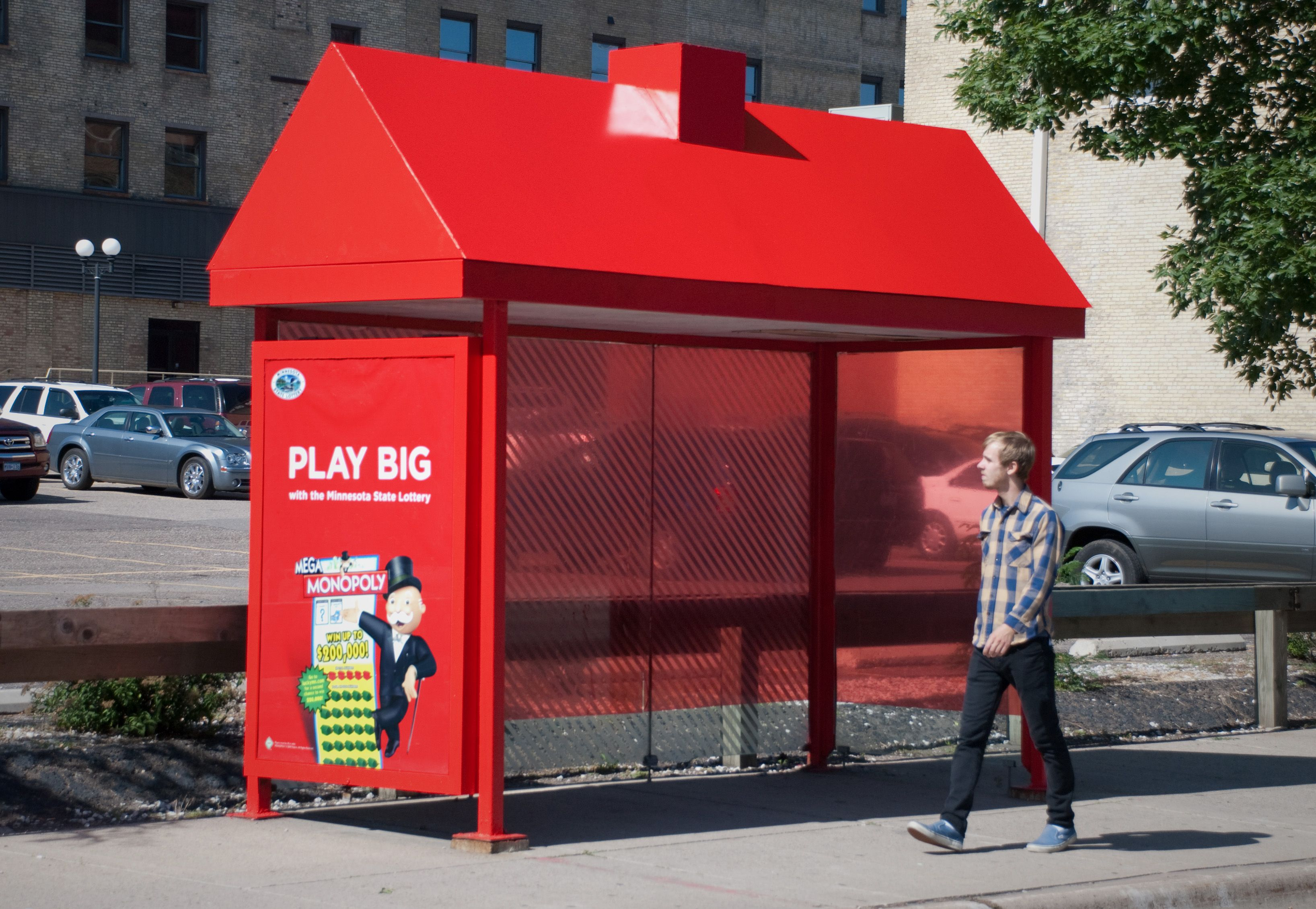 Monopoly Make Great Use Of A Bus Shelter With This Guerrilla Marketing Campaign