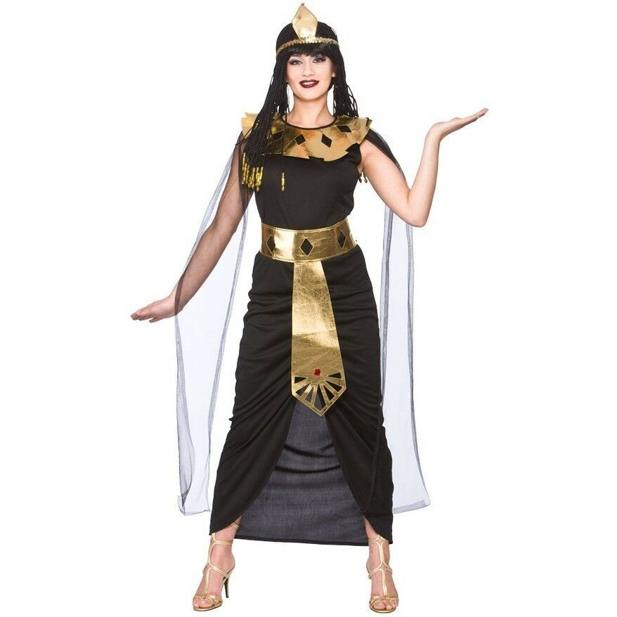 Ladies Charming Cleopatra Fancy Dress Costume Womens Egyptian Queen Outfit New W