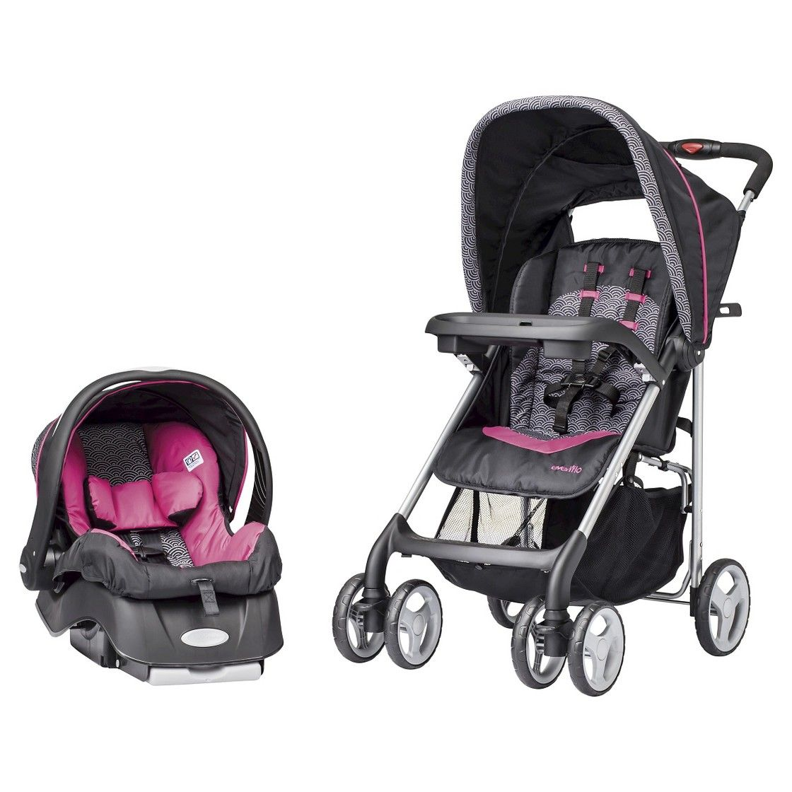 Evenflo JourneyLite Travel System Party Pink Travel