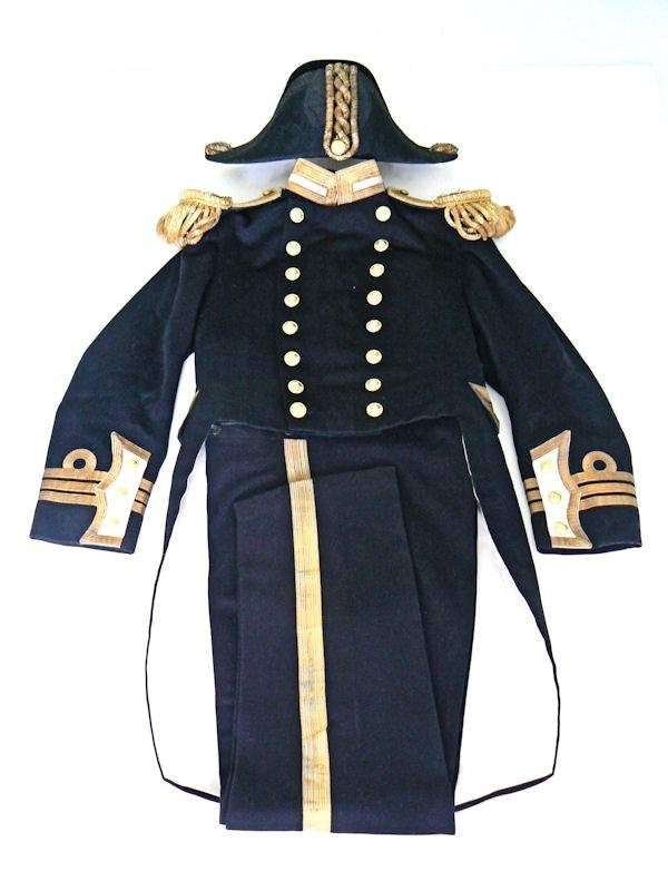 Early Royal Navy Officers Full Dress Uniform plus Chapeau