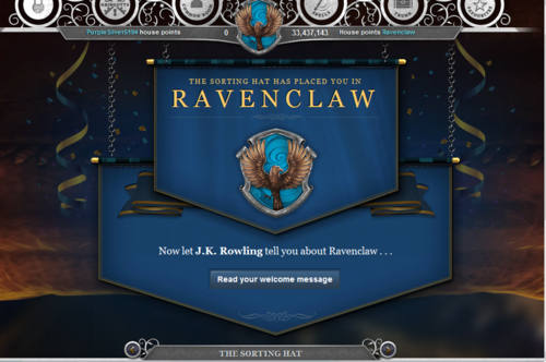 Ravenclaw on Pottermore