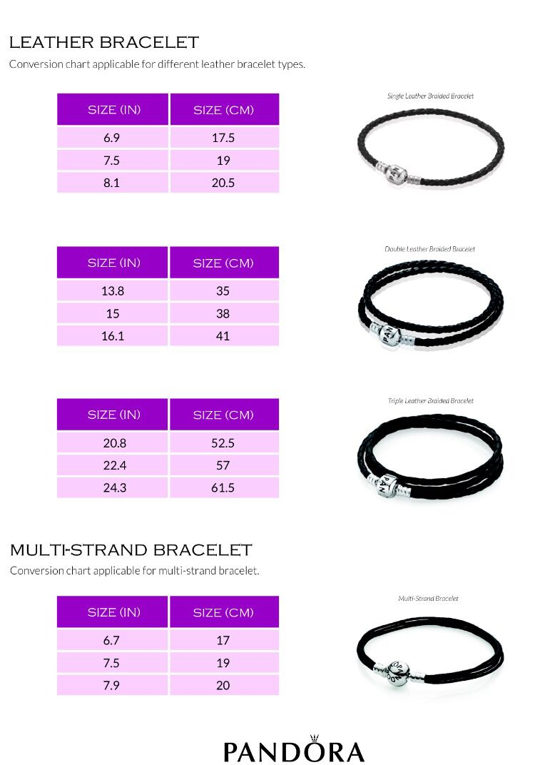 Leather Bracelet Size Chart Bracelet Sizes Chart