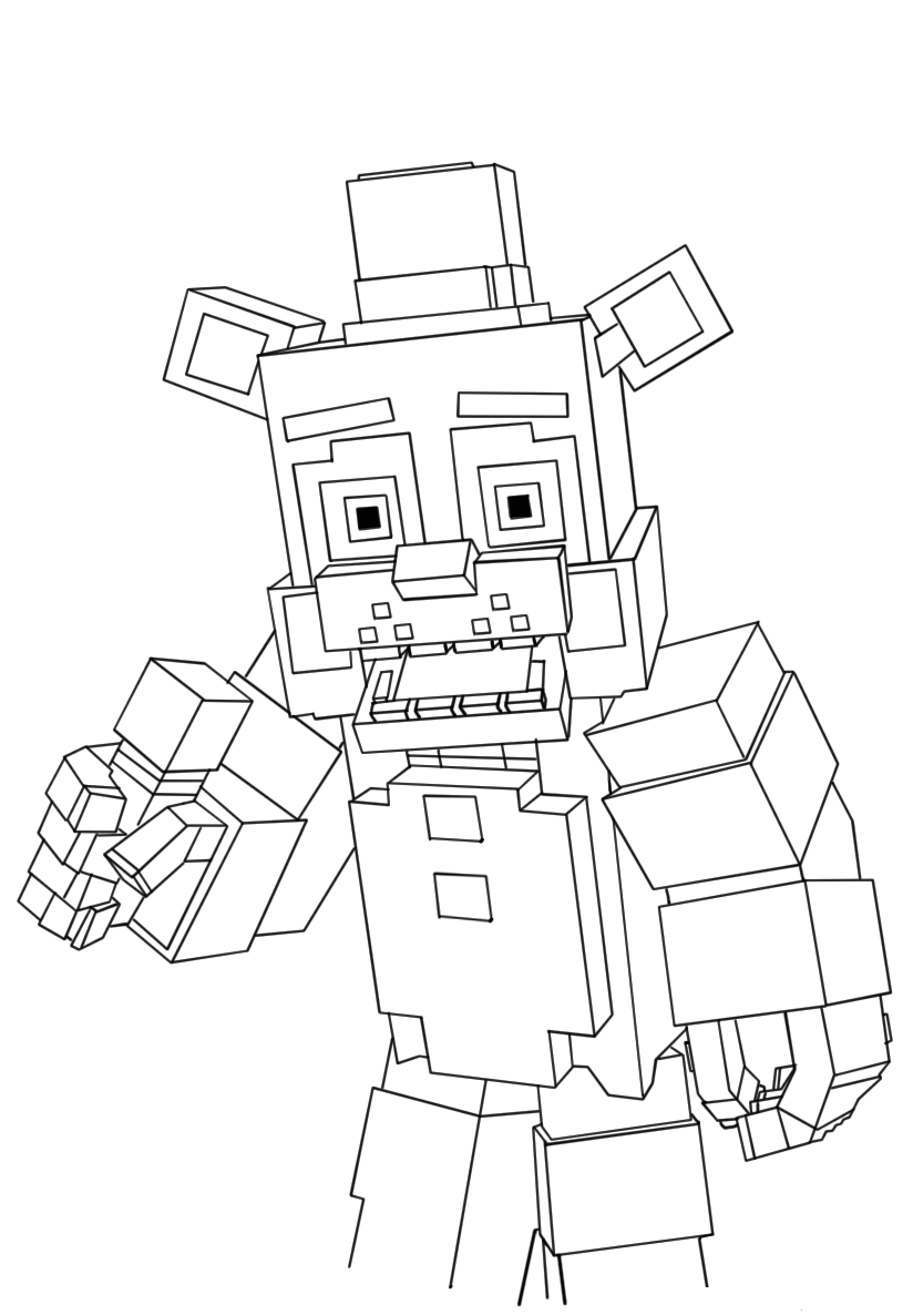 Minecraft Freddy Fnaf Coloring Pages Fnaf Coloring Pages Minecraft Coloring Pages Pokemon Coloring Pages