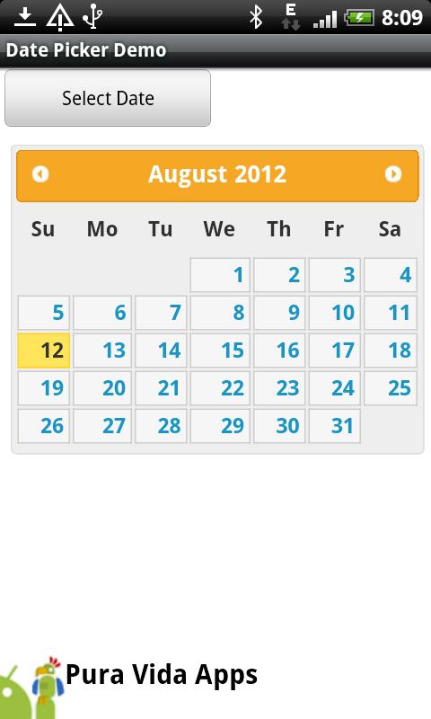 App Inventor Tutorials and Examples: Datepicker | Pura Vida