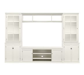 Logan Wall Suite With Bookcases Amp Cabinet Doors Pottery