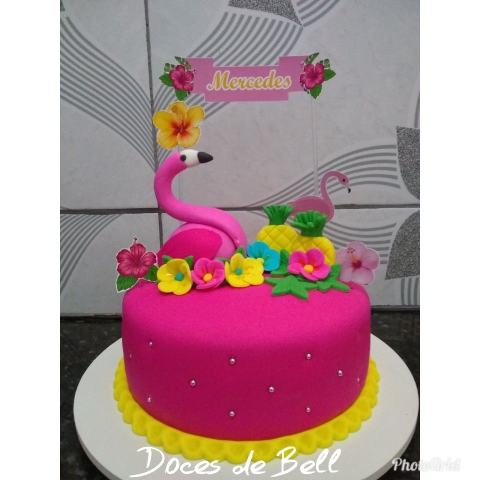 Bolo De Pasta Americana Com Imagens Decoracao Festa Flamingo