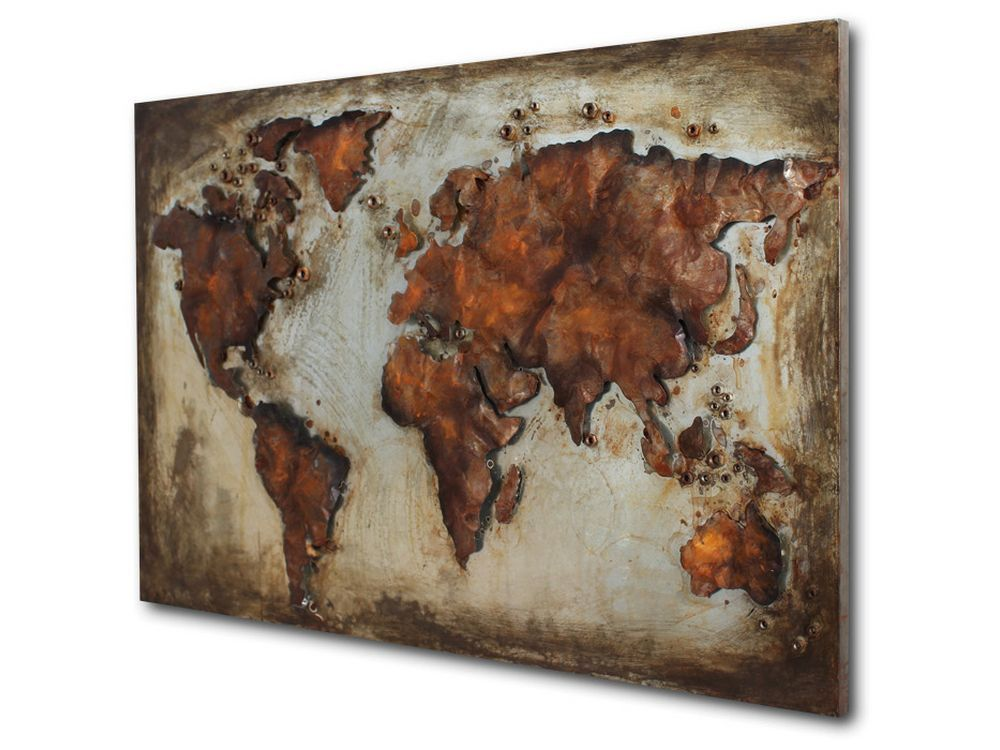 Map metal wall art metal wall pictures and decorations pinterest map metal wall art gumiabroncs Images